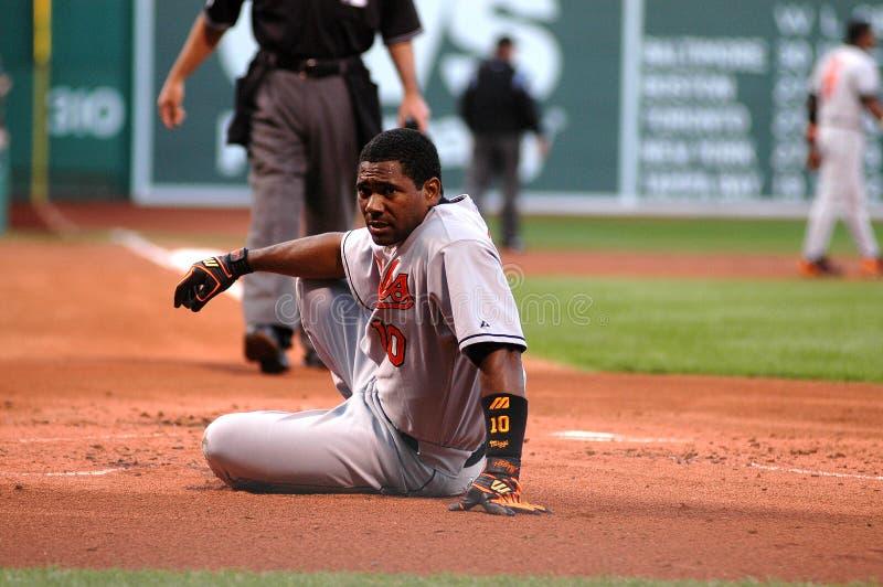 Miguel Tejada Baltimore Orioles. Baltimore Orioles third baseman Miguel Tejada stock photo