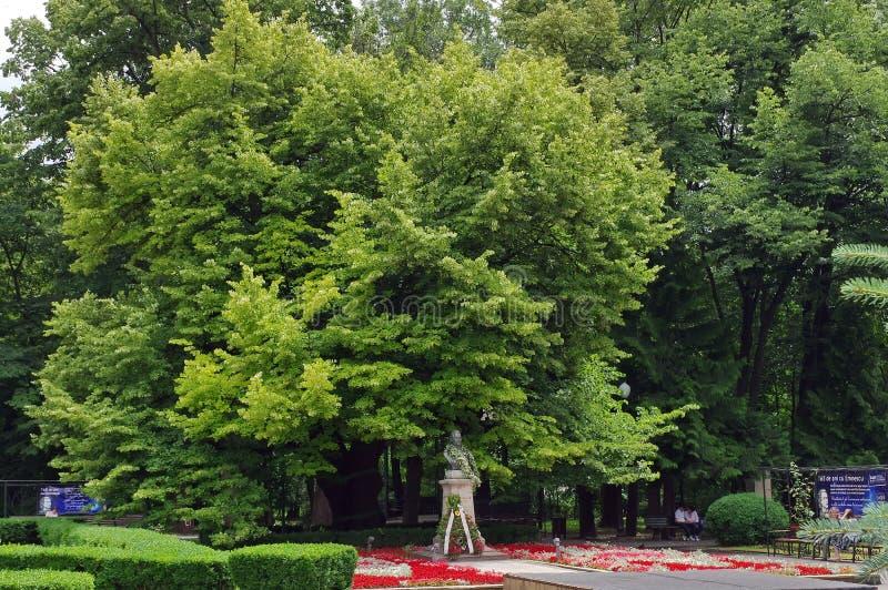 Mihai Eminescu Monument imagen de archivo libre de regalías