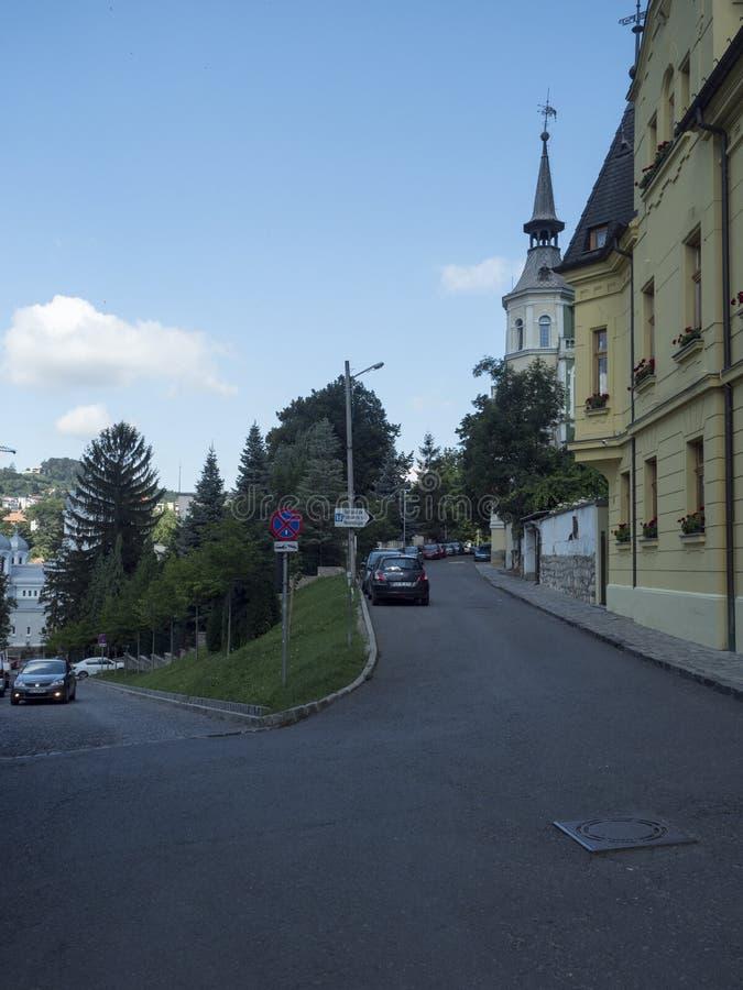 Mihai Eminescu street in Brasov, Romania royalty free stock image