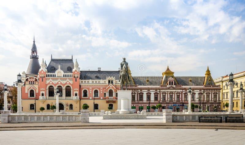 Mihai Viteazu Michael la statue courageuse dans Oradea photo stock