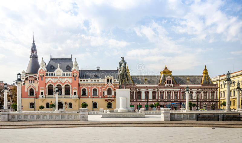 Mihai Viteazu Michael Odważna statua w Oradea zdjęcie stock