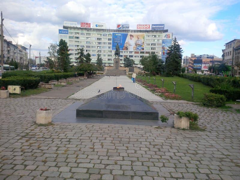 Mihai Viteazu Statue från Cluj-Napoca arkivfoton