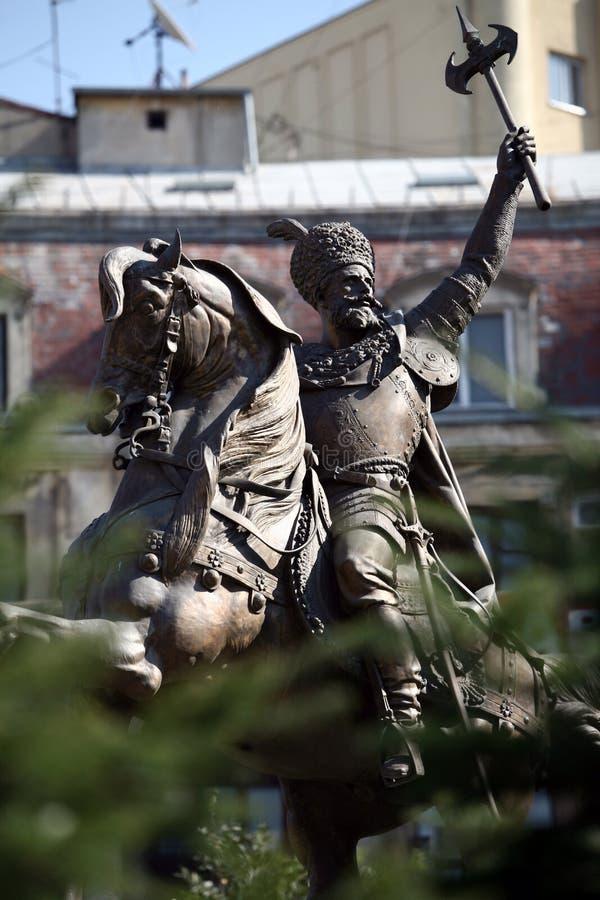Mihai Viteazul statue royalty free stock image