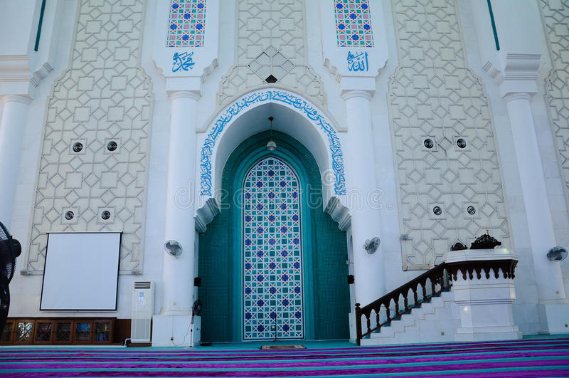 Mihrab του σουλτάνου Ahmad Shah 1 μουσουλμανικό τέμενος σε Kuantan στοκ φωτογραφίες με δικαίωμα ελεύθερης χρήσης