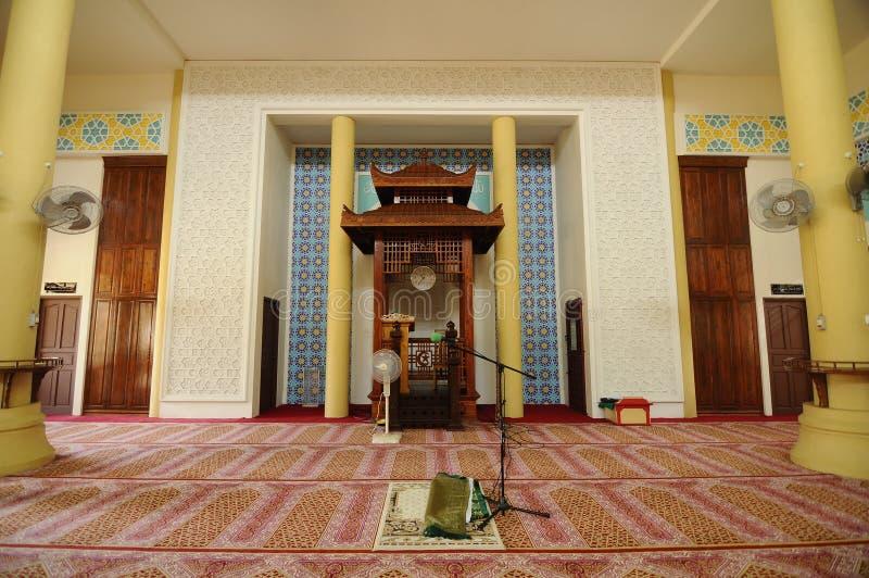 Mihrab av Masjid Jubli Perak Sultan Ismail Petra a K A Masjid Peking arkivbilder