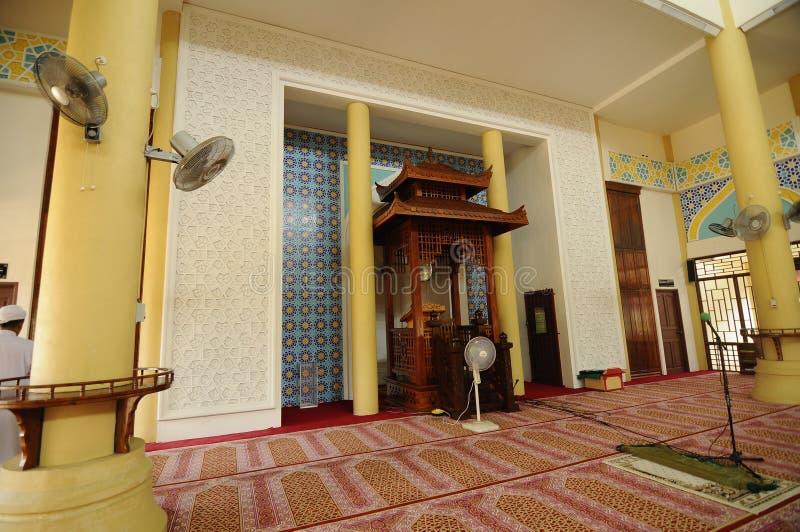 Mihrab av Masjid Jubli Perak Sultan Ismail Petra a K A Masjid Peking fotografering för bildbyråer