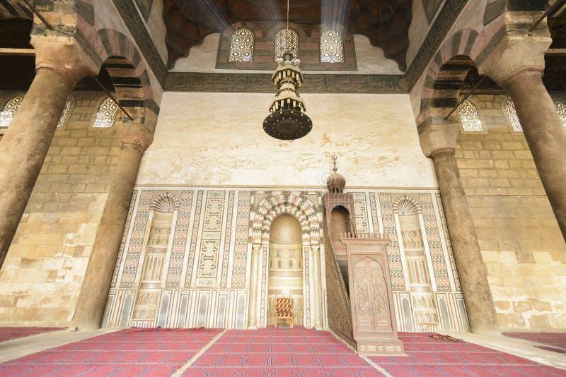 Mihrab av moskén av Al-Nasir Muhammad, citadell av Kairo arkivfoto