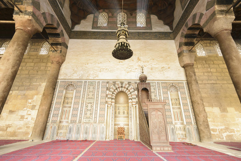 Mihrab da mesquita de Al-Nasir Muhammad, citadela do Cairo foto de stock