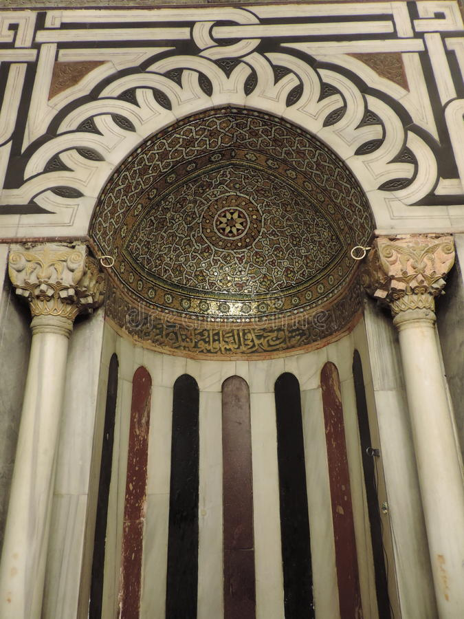 Mihrab dentro da caverna dos patriarcas, Jerusalém foto de stock royalty free