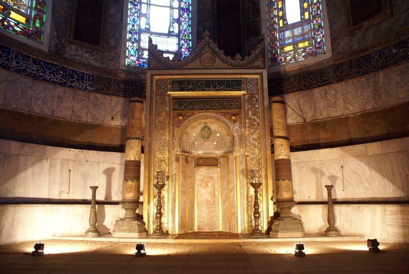 Mihrab e finestre immagine stock
