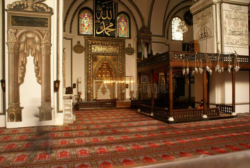Mihrab e parede na mesquita imagem de stock