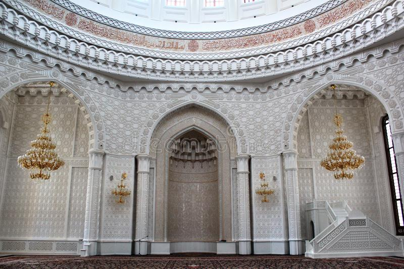 Mihrab en Heydar Mosque, Bakou image libre de droits