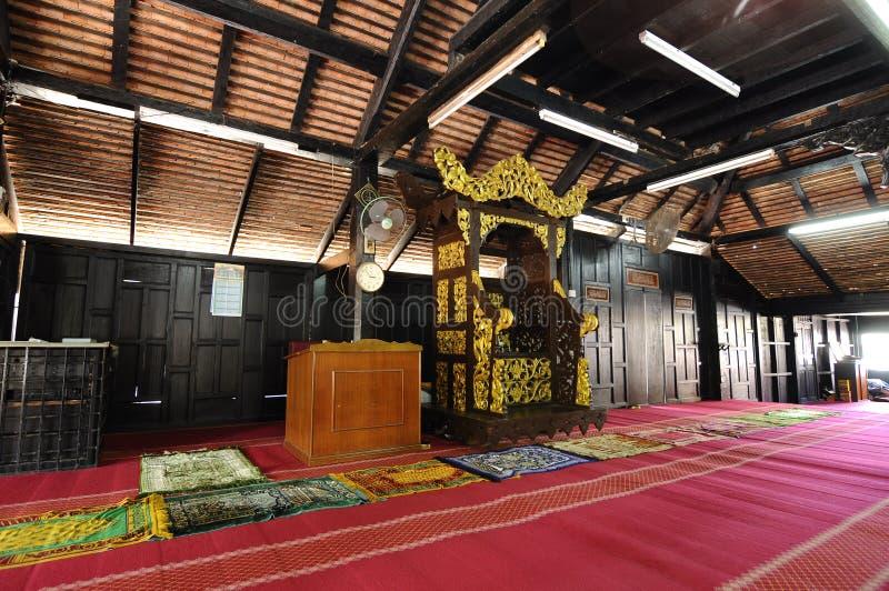 Mihrab van Masjid Kampung Laut in Nilam Puri Kelantan, Maleisië stock foto