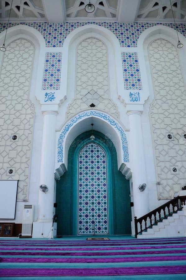 Mihrab von Sultan Ahmad Shah 1 Moschee in Kuantan lizenzfreie stockbilder