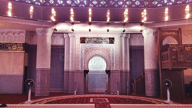 Mihrab w Krajowym meczecie Malezja fotografia royalty free
