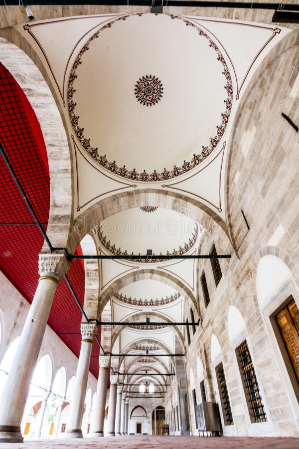 Mihrimah Sultan Mosque in istanbul, Turkey.  royalty free stock image