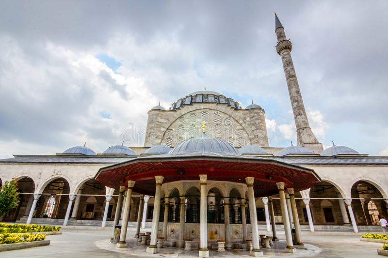 Mihrimah Sultan Mosque in istanbul, Turkey.  royalty free stock photos