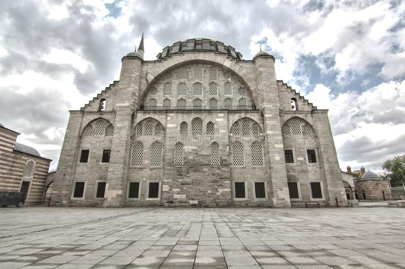 Mihrimah Sultan Mosque in istanbul, Turkey.  royalty free stock photography