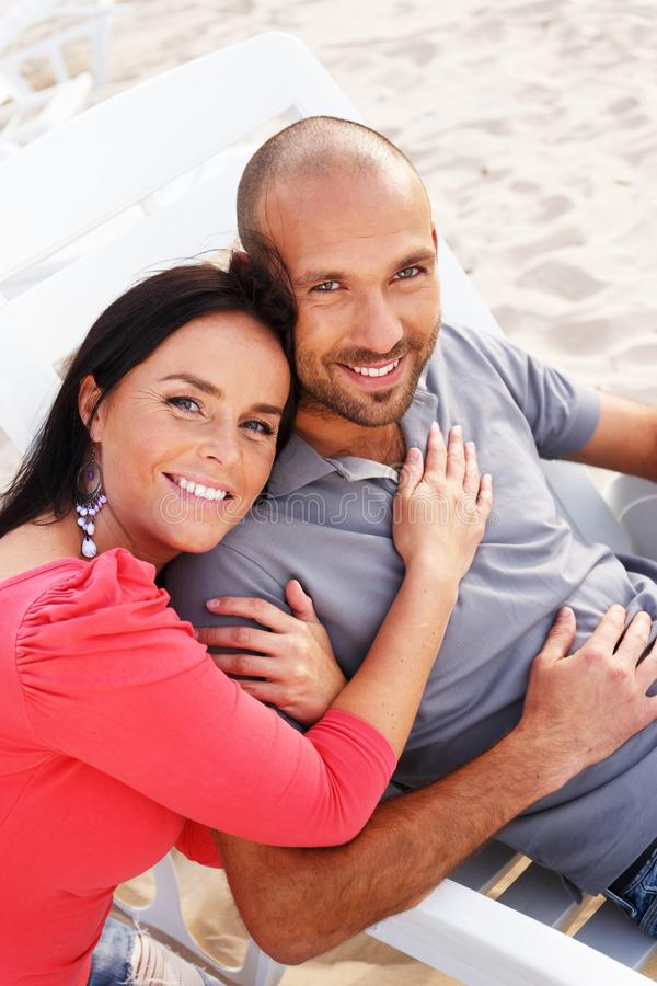Download Miiddle-aged Couple On A Beach Royalty Free Stock Photo - Image: 36552485