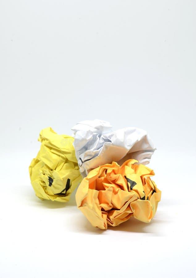 Miie papier na białym tło ideale dla frustation i rejec zdjęcie royalty free