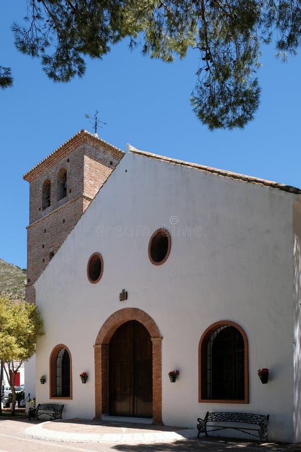 MIJAS, ANDALUCIA/SPAIN - 3. JULI: Kirche des tadellosen Conce lizenzfreie stockbilder