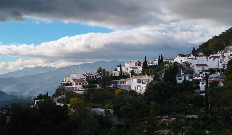 Mijas Andalusia, Spanien arkivfoto