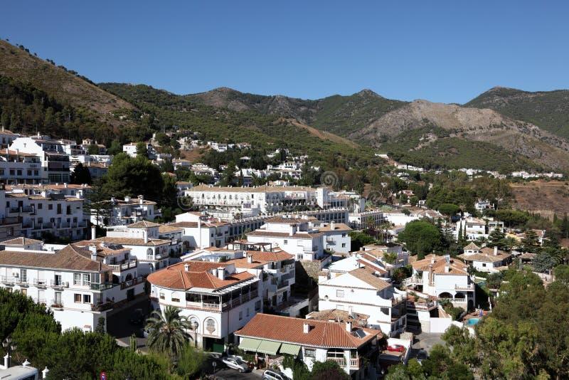 Mijas Pueblo, Andalusia Spanien Royaltyfri Fotografi