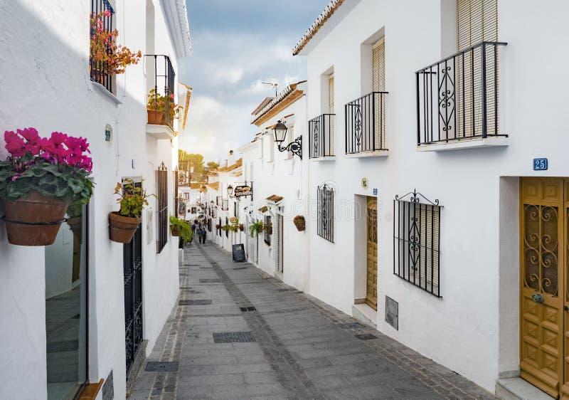 Mijas Spanien, Februari 20 2019 royaltyfri fotografi