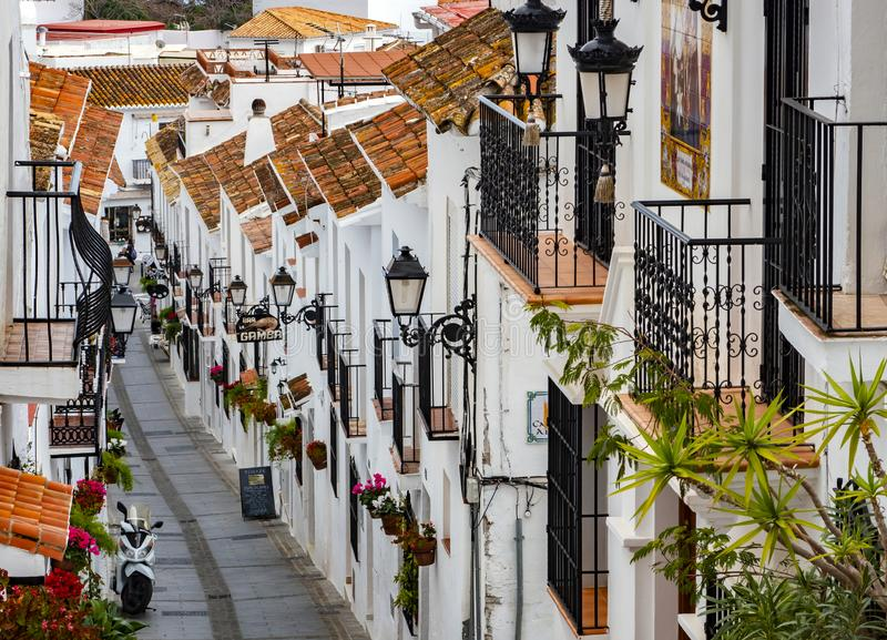 Mijas Spanien, February-20- 2019 royaltyfri fotografi