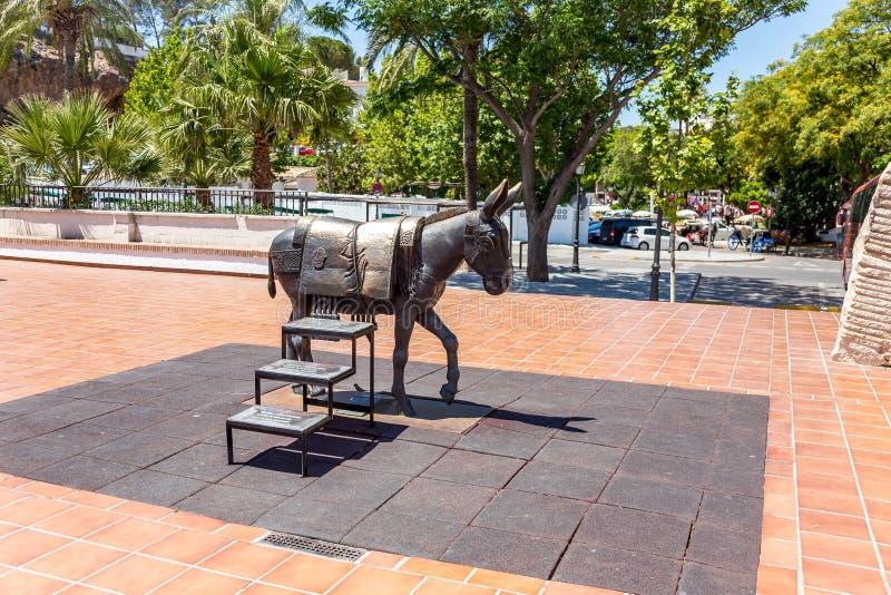 Mijas - standbeeld van ezel royalty-vrije stock afbeeldingen
