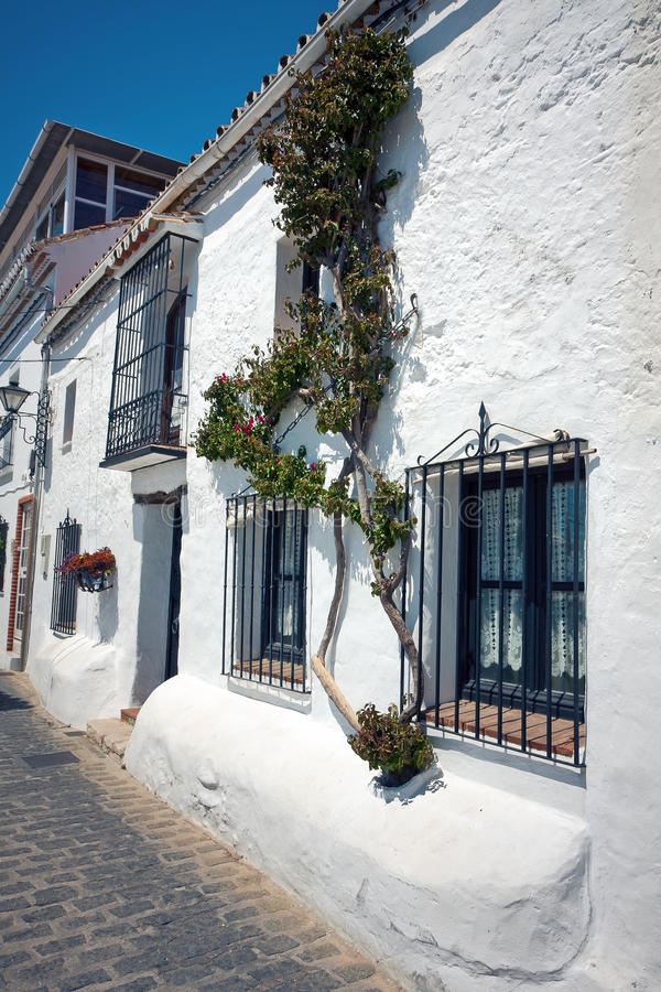 Download Mijas streets stock image. Image of home, house, grille - 19744463
