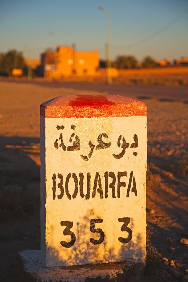 mijlen in Afrika Marokko royalty-vrije stock afbeeldingen