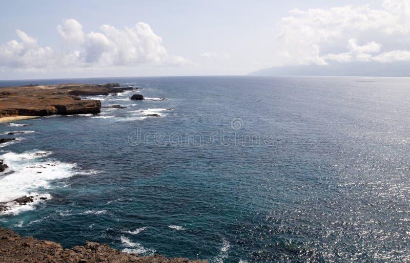 Mijlen apart in de Atlantische Oceaan stock foto