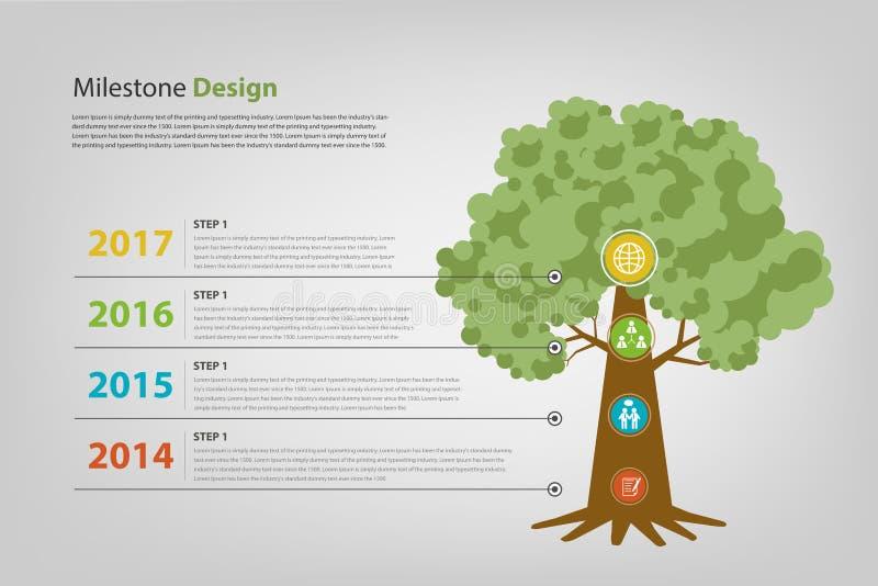 Mijlpaal en chronologie infographic vectoreps10 royalty-vrije stock afbeelding