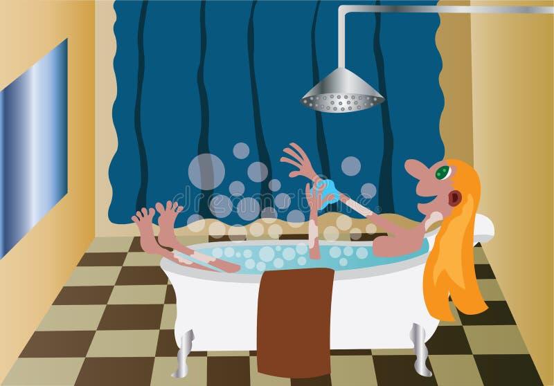 Mijn Badkamers 3 royalty-vrije illustratie