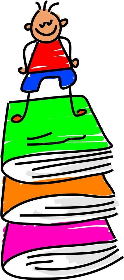Mijn boeken vector illustratie