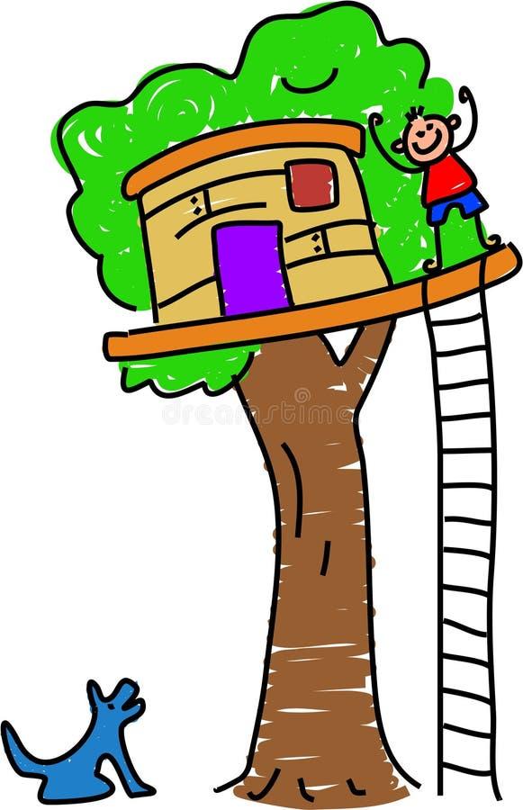 Mijn boomhuis royalty-vrije illustratie