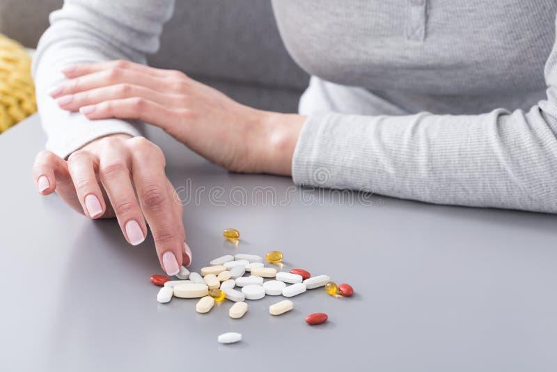 Mijn dagelijkse dosis pillen stock afbeeldingen