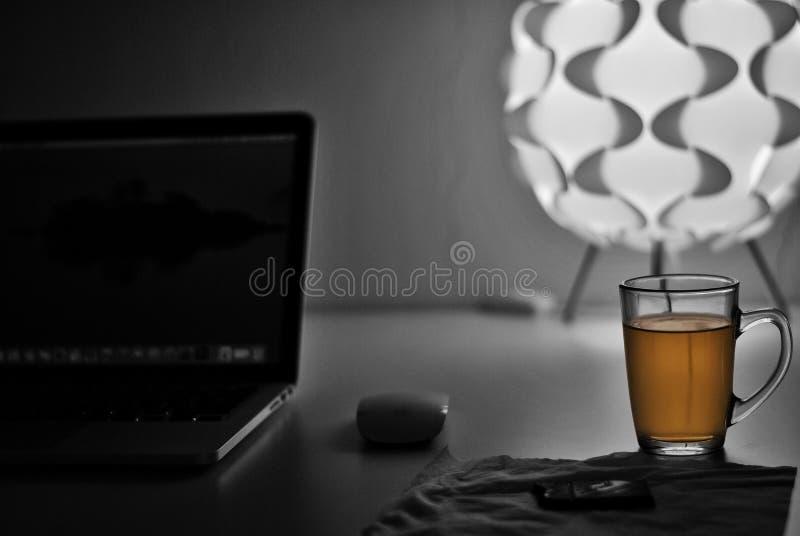 Mijn dally groene thee stock foto