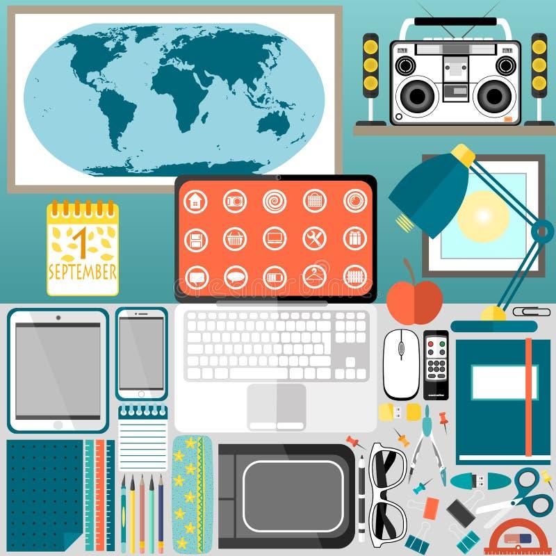 Mijn Desktop, zaken, bureau stock foto's