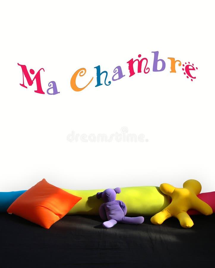 Mijn Die Slaapkamer In Het Frans Op Een Muur Van Een Kindruimte ...