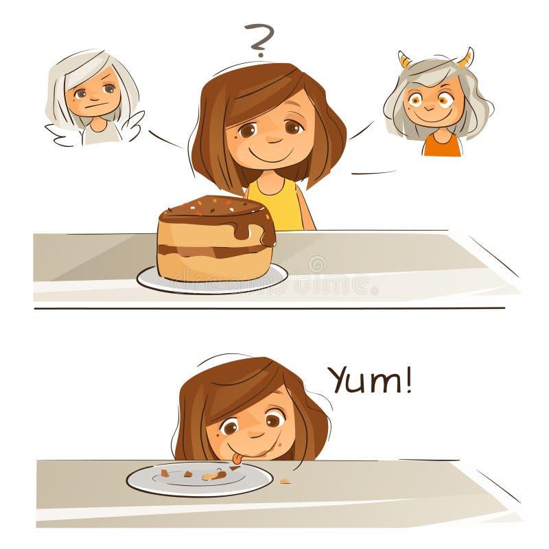 Mijn dieetplan royalty-vrije illustratie