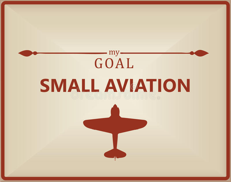 Mijn doel is kleine luchtvaart stock illustratie