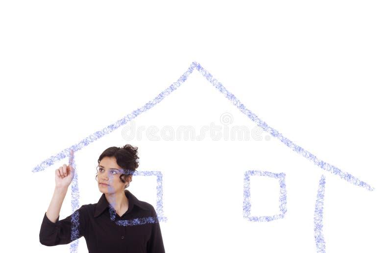 Mijn droomhuis! royalty-vrije stock afbeeldingen