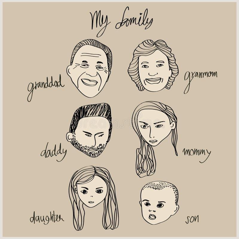 Mijn familieportret vector illustratie