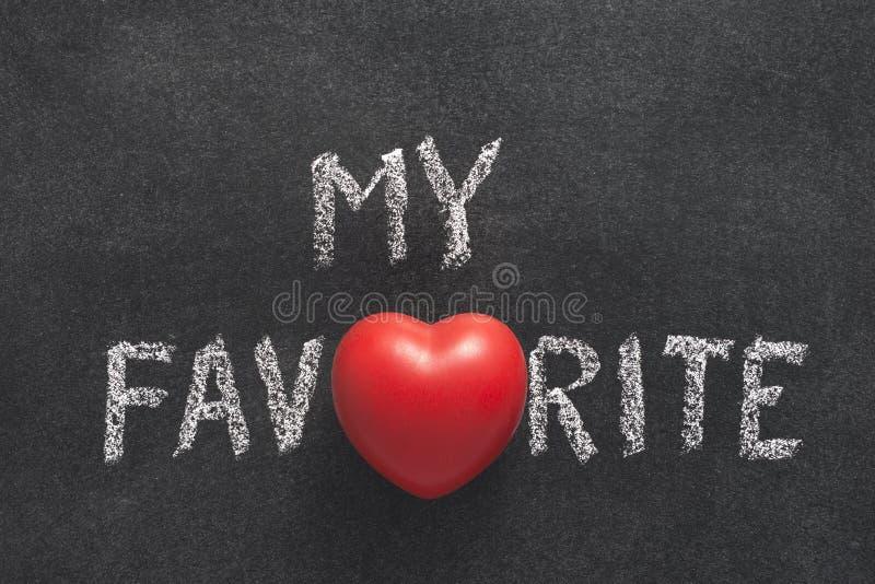 Mijn favoriet hart royalty-vrije stock afbeelding