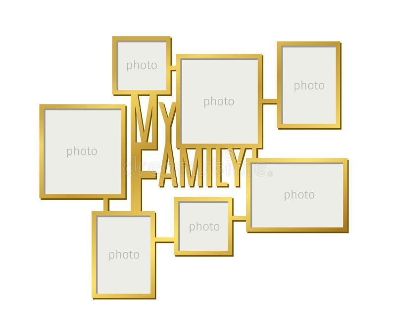 Mijn het kaderreeks van de familiefoto royalty-vrije illustratie