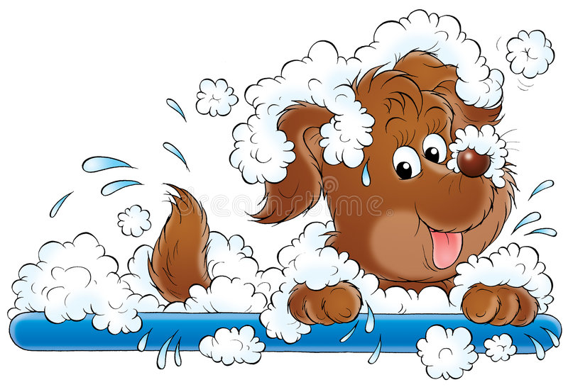 Mijn hond 023 stock illustratie