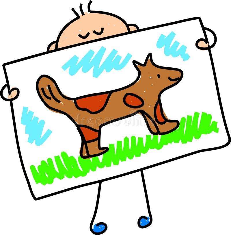 Mijn hondbeeld stock illustratie