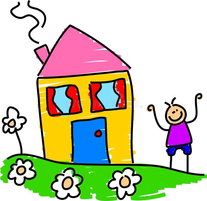 Mijn huis royalty-vrije illustratie